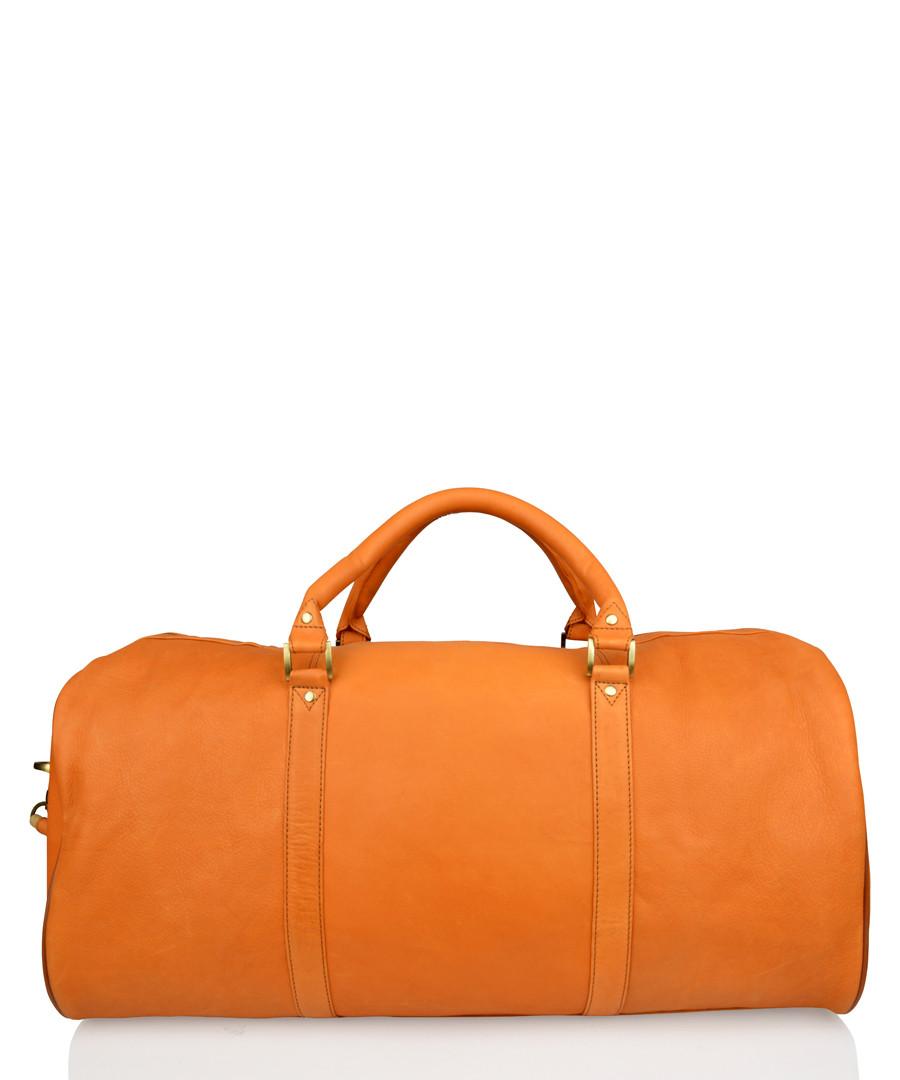 Orange leather holdall Sale - woodland leather
