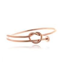 14ct rose gold-plated love knot bracelet