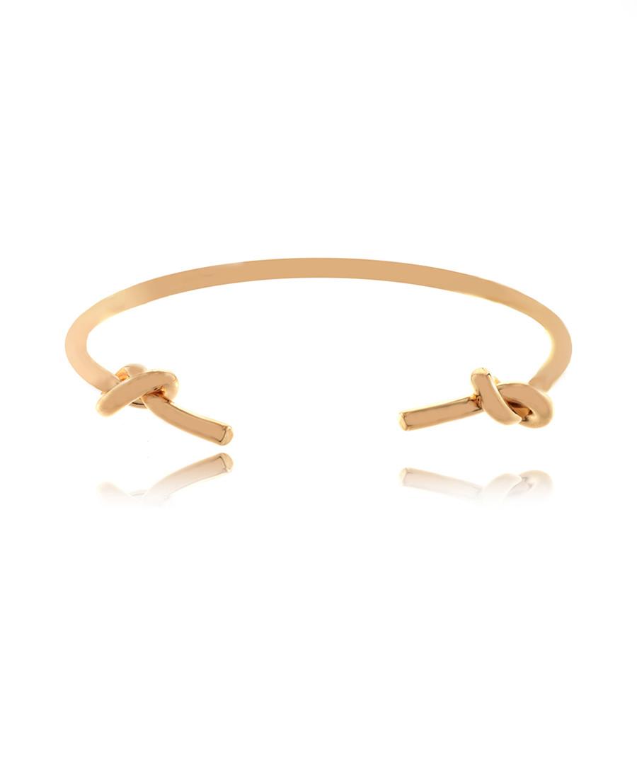 14ct rose gold-plated knots bangle Sale - fleur envy
