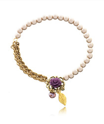 14ct gold-plated rose charm bracelet