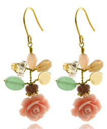 14ct gold-plated & rose pearl earrings