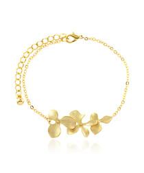 14ct gold-plated flower bracelet