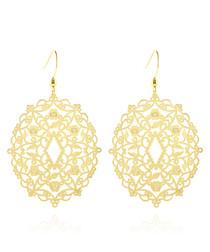 14ct gold-plated mandala earrings