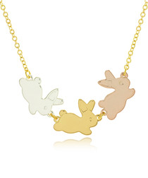 14ct gold-plated bunny necklace