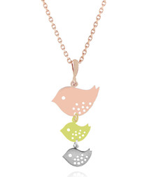14ct rose gold-plated bird necklace