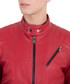 Red leather black zip jacket Sale - ad milano Sale