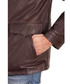 Dark brown leather high neck pocket coat Sale - ad milano Sale