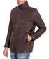 Dark brown leather zip coat Sale - ad milano Sale