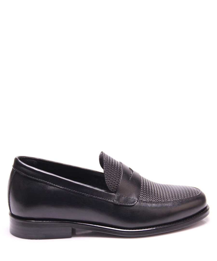 Black leather woven top loafers Sale - REPRISE