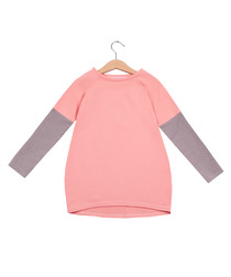 Unisex peach & graphite cotton tunic