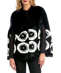 Mireia black & white furry coat
