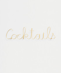 Cocktails gold-tone wire word