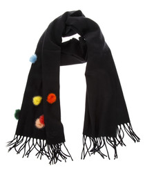 Women's Touch black wool scarf