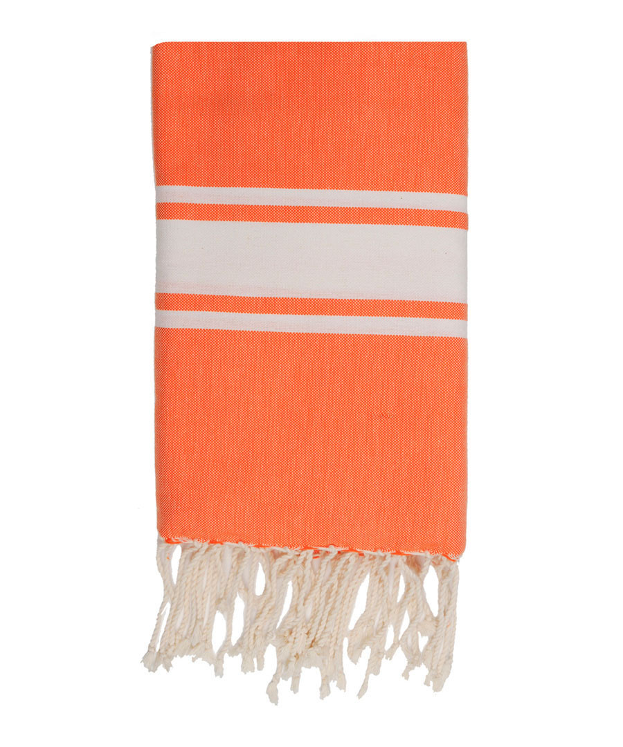 St Tropez orange cotton fouta towel Sale - FEBRONIE