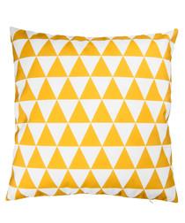 Ecru & mustard cushion cover 50cm