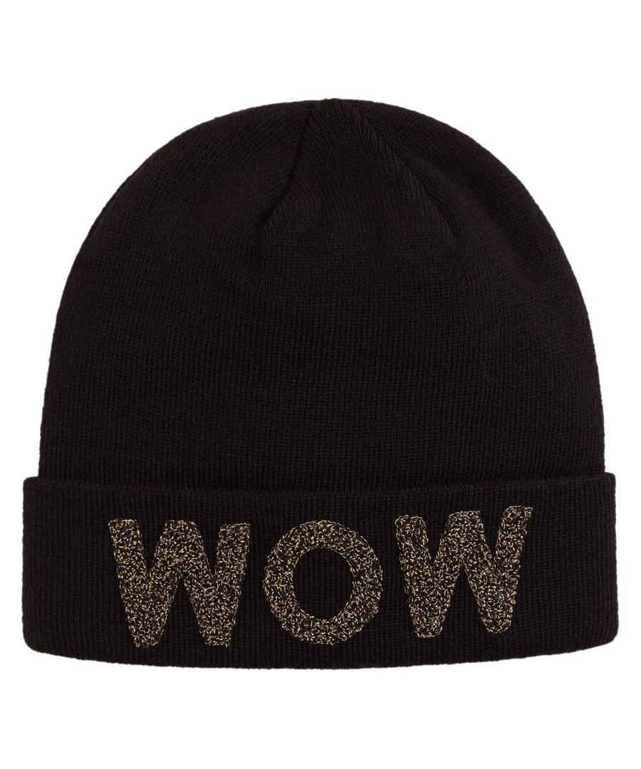 Discount WOW black beanie hat  b07485067c04