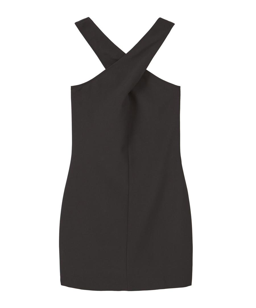 Black crossover halterneck mini dress Sale - Mango