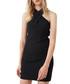 Black crossover halterneck mini dress Sale - Mango Sale