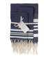 3pc Hamptons denim cotton towel set Sale - FEBRONIE Sale