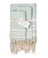3pc Hamptons mint cotton towel set Sale - FEBRONIE Sale