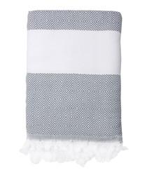 Courchevel grey cotton fouta towel