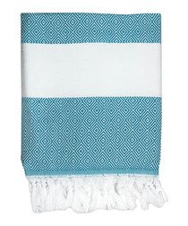 Courchevel duck blue cotton fouta towel