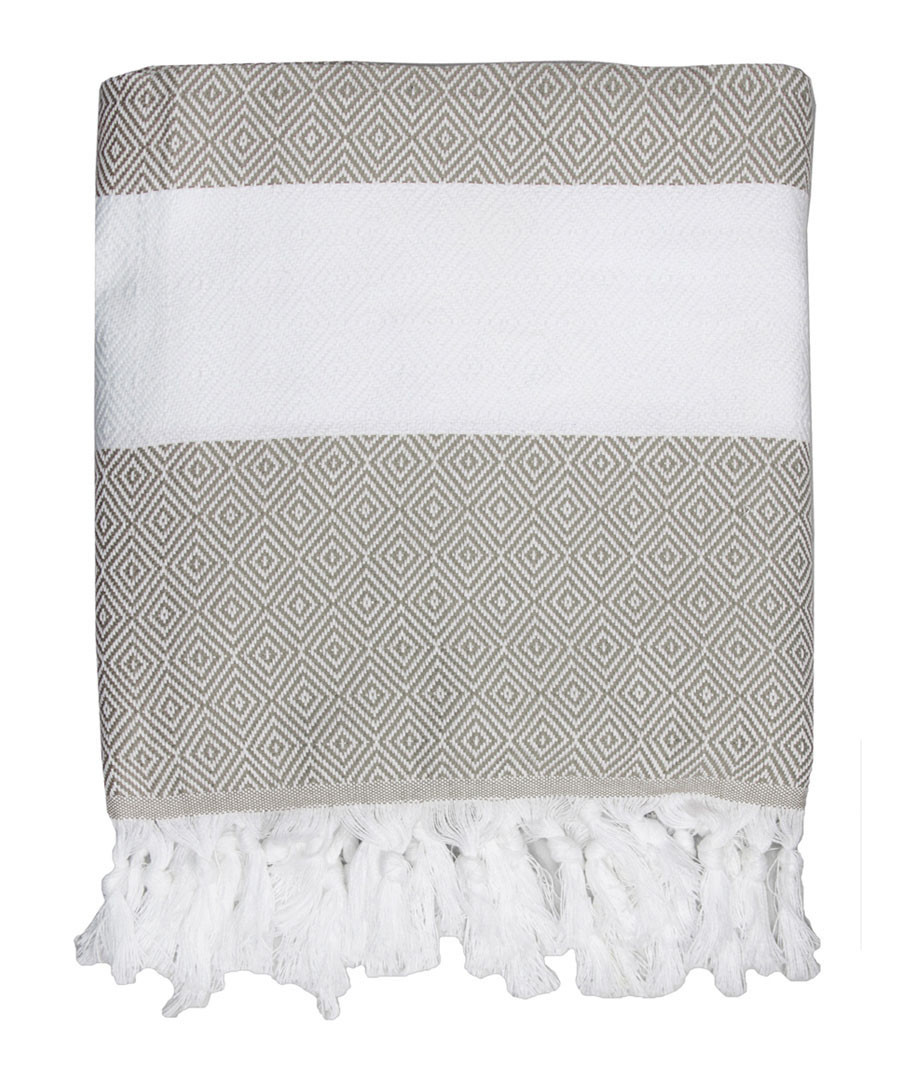 Courchevel white cotton fouta towel Sale - FEBRONIE
