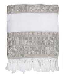 Courchevel white cotton fouta towel