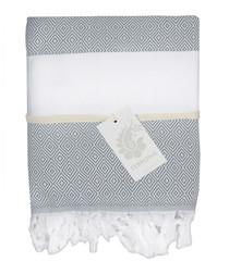 Courchevel grey pure cotton fouta towel