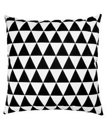 Ecru & black cushion cover 50cm