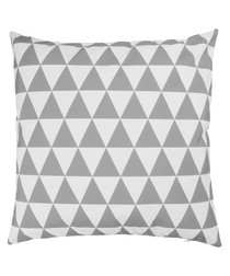 Ecru & pearl grey cushion cover 50cm