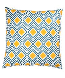 Dark grey & mustard cushion cover 50cm