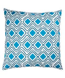 Dark grey & blue cushion cover 50cm