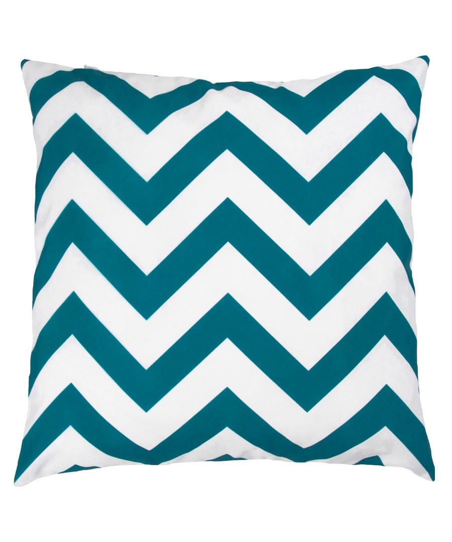 Ecru & green zigzag cushion cover 50cm Sale - FEBRONIE