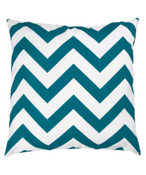 Ecru & green zigzag cushion cover 50cm