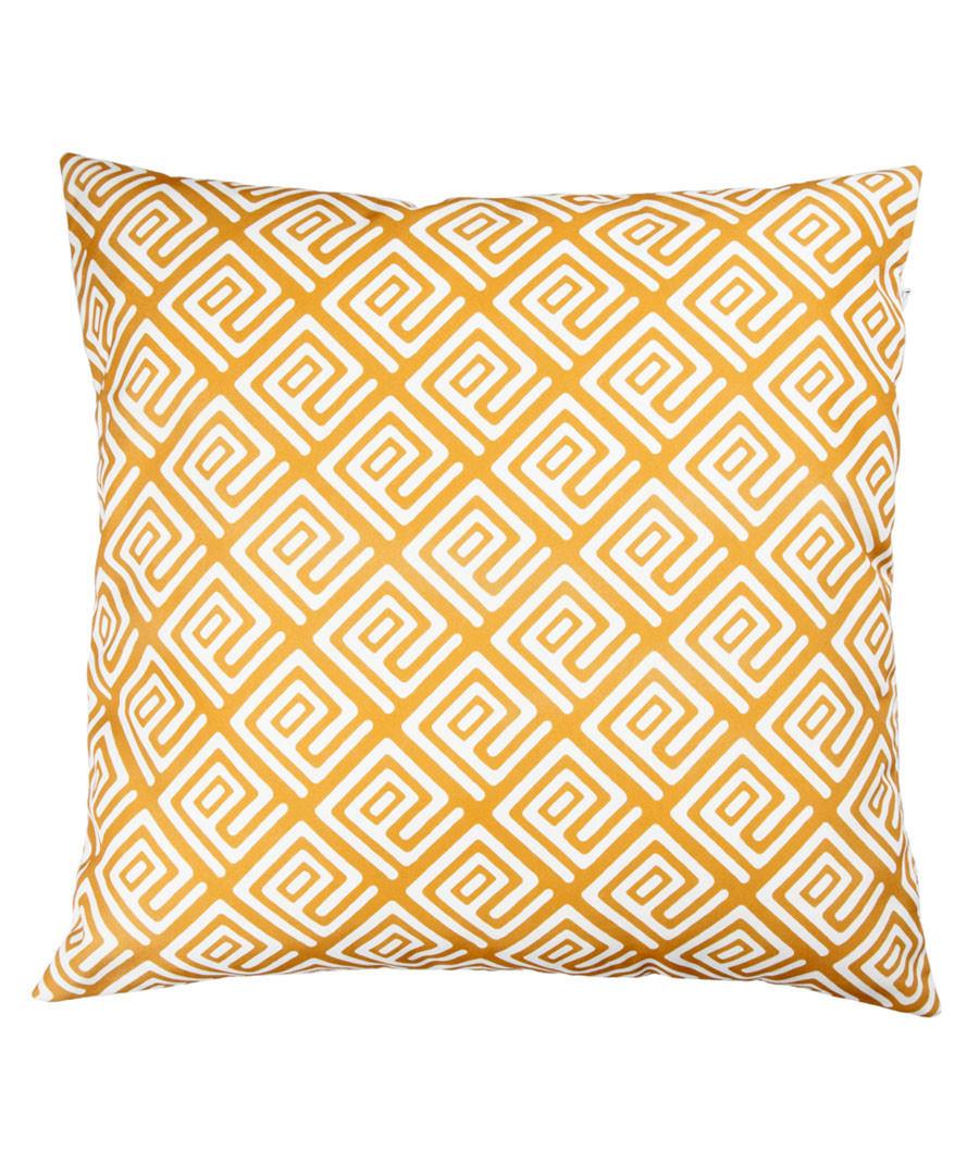 Ecru & mustard geo cushion cover 50cm Sale - FEBRONIE