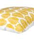 Ecru & mustard leaf cushion cover 50cm Sale - febronie Sale