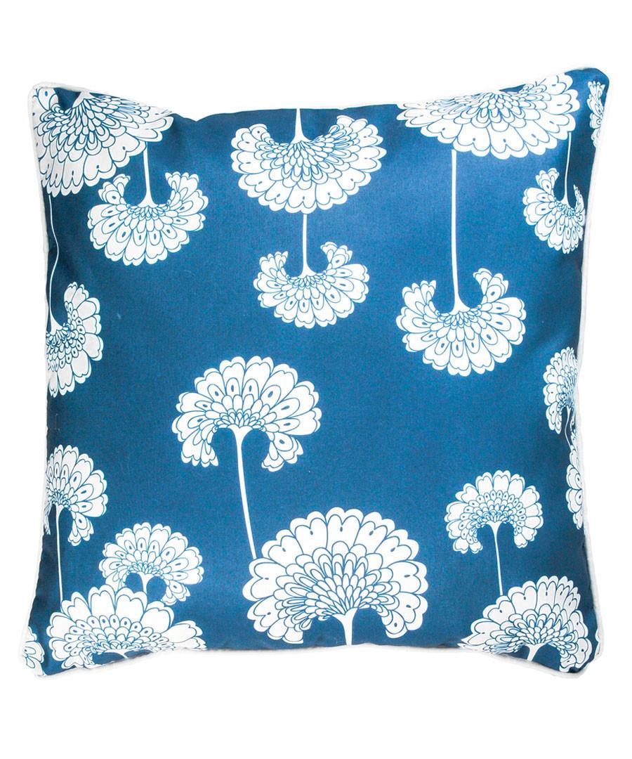 Petrol blue fan cushion cover 50cm Sale - FEBRONIE