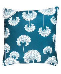 Green & white fan cushion cover 50cm