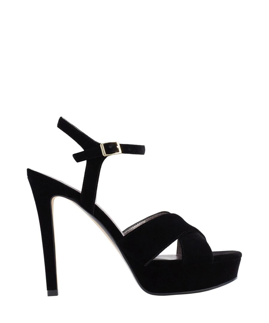 Black strappy peeptoe heels Sale - Mango