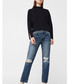 Dark blue cotton ripped knee jeans Sale - Mango Sale
