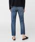 Dark blue cotton ripped knee jeans Sale - Mango Sale