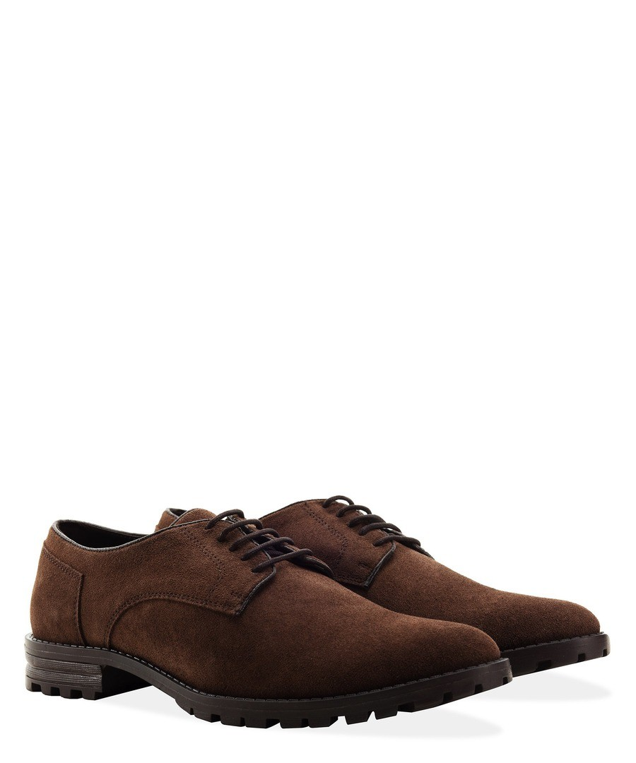 MENS BROWN WATER RESISTANT DESERT SHOES Sale - REDFOOT