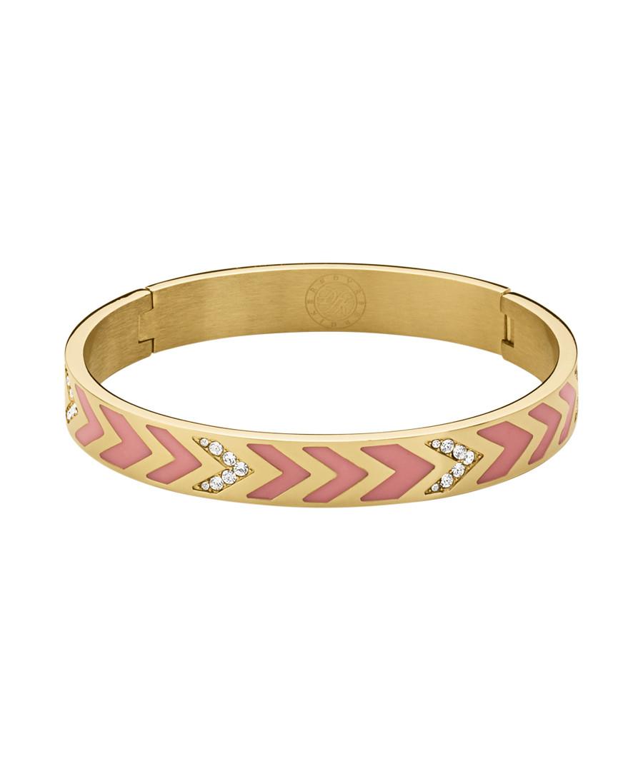 Aponi gold-tone & rose crystal bangle Sale - dyrberg/kern