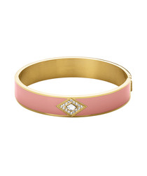 Violetta gold-tone & rose bangle