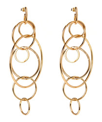 Anisa gold-tone brass earrings