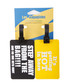 2pc Black & yellow printed luggage tags Sale - les bagagistes Sale