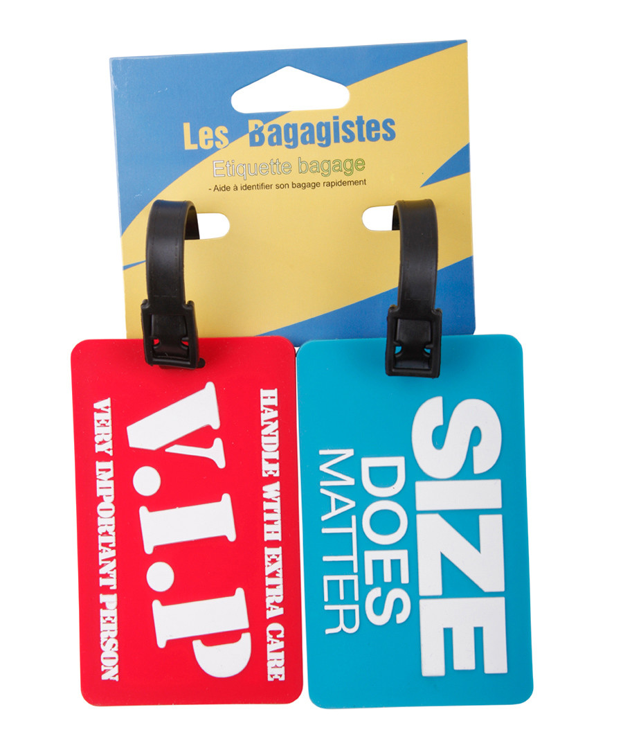 2pc Red & blue printed luggage tags Sale - les bagagistes