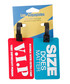 2pc Red & blue printed luggage tags Sale - les bagagistes Sale