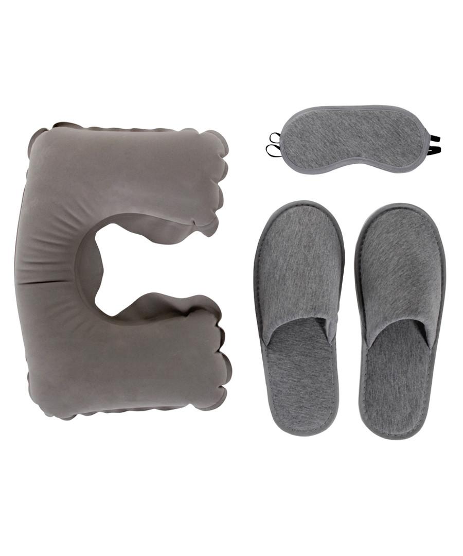 3pc grey travel sleep set Sale - les bagagistes